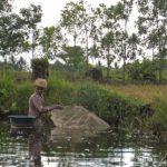 Pangalanes canal - Female fisherman