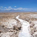Le Salar de l'Atacama, cette incroyable croûte de sel et de minéraux s'étend sur 3000 km2. C'est l'une des plus grandes étendues de sel du monde.