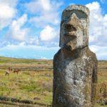Les Moaï ont les yeux creux ce qui fait penser qu'il y avait des incrustations. Les yeux en corail permettaient aux statues de mieux surveiller les vivants